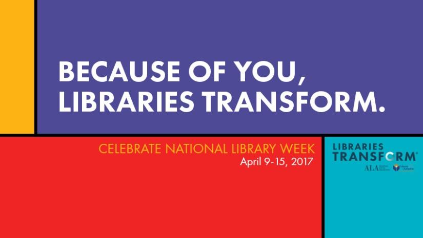 It's National LibraryWeek!