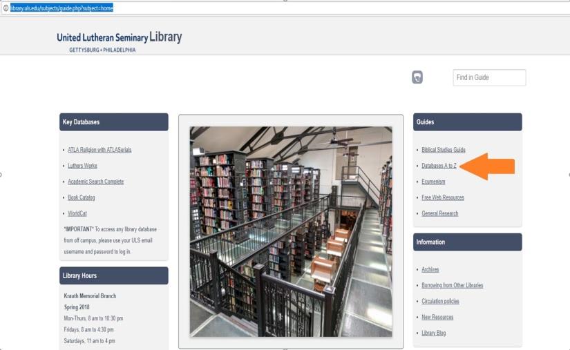 ULS Libary Online Databases101